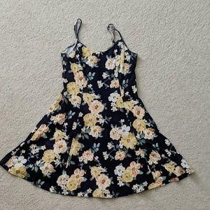 Floral print summer dress